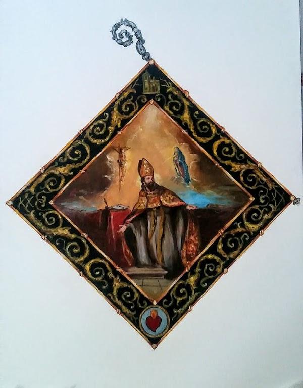 La Hermandad de la Buena Muerte de Huelva presenta el diseño de la nueva insignia de San Agustín