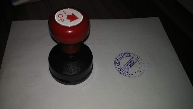 Stempel Komisi Pemilihan Umum
