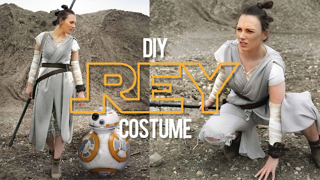 DIY Star Wars Rey Costume and many other modest Halloween Costumes!