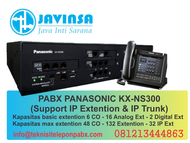 kapasitas minimal extention pabx panasonic ns300, kapasitas maksimal extention pabx panasonic ns300, harga pabx panasonic ns300