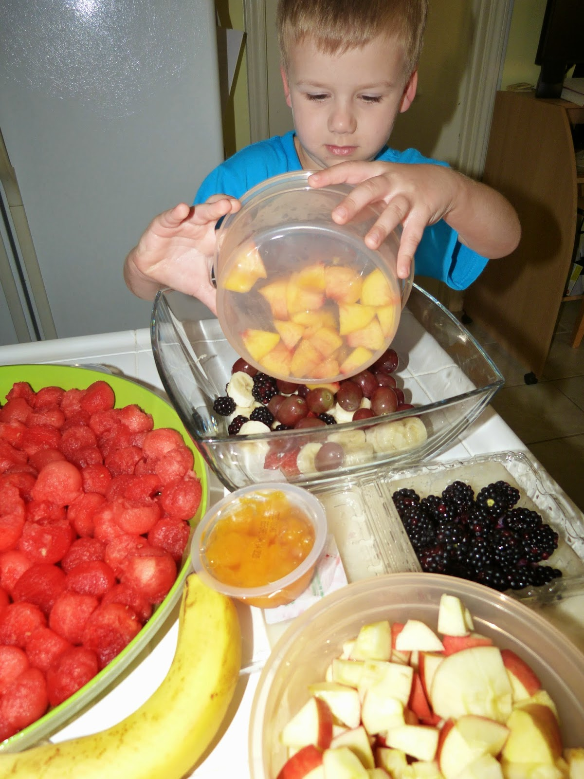 Friendship Fruit Salad, a recipe for classroom team building.