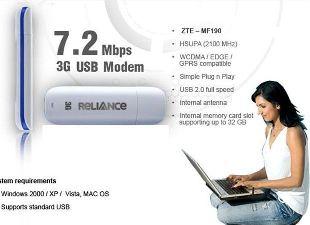 Unlock Reliance ZTE MF190 USB Modem Totally Free