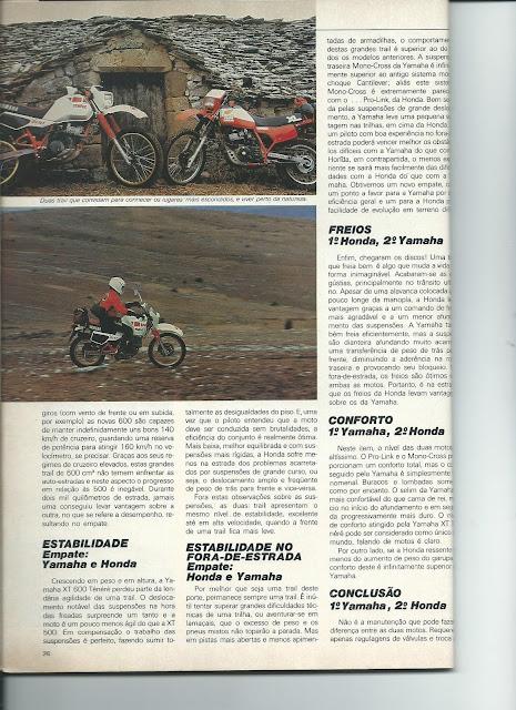 MS09 - Yamaha XT600 x Honda XL600 - O DUELO