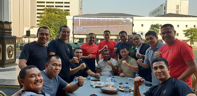 Pangdivif 2 Kostrad Hadiri Olahraga Bersama di Mabes TNI AD