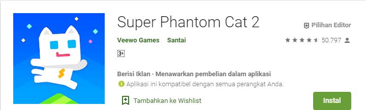 Game Platformer Terbaik untuk Android Super Phantom cat 2