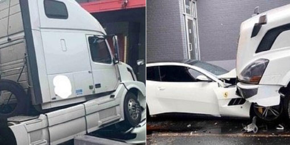 «OUPS!» Licencié, il écrase la Ferrari de son patron avec un camion
