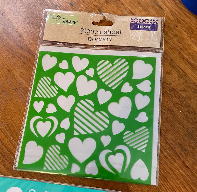 Photo of a heart stencil from Dollar Tree