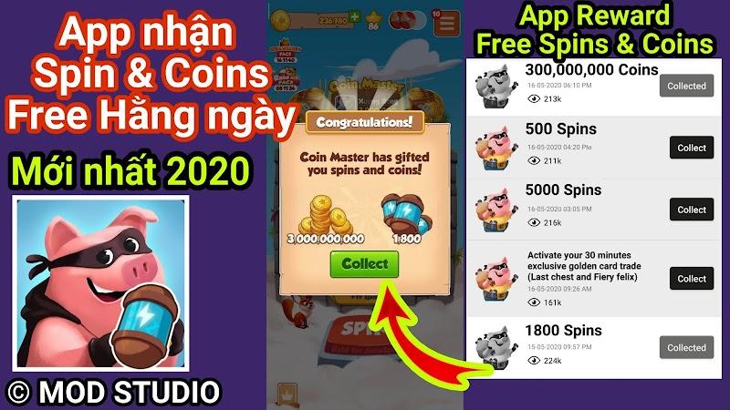 App nhận Miễn phí Coin và Spin game Coin Master mới nhất cho Điện thoại
