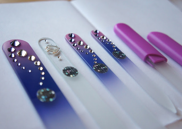 MontBleu Glass Files Review- Glass Foot File,  Zodiac Nail File, Tweezers, Glass Cuticle Stick