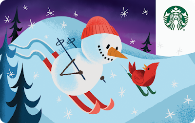 Snowman Starbucks Card