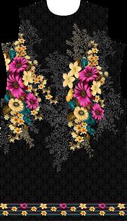Ladies Flower Kurti Design 2487