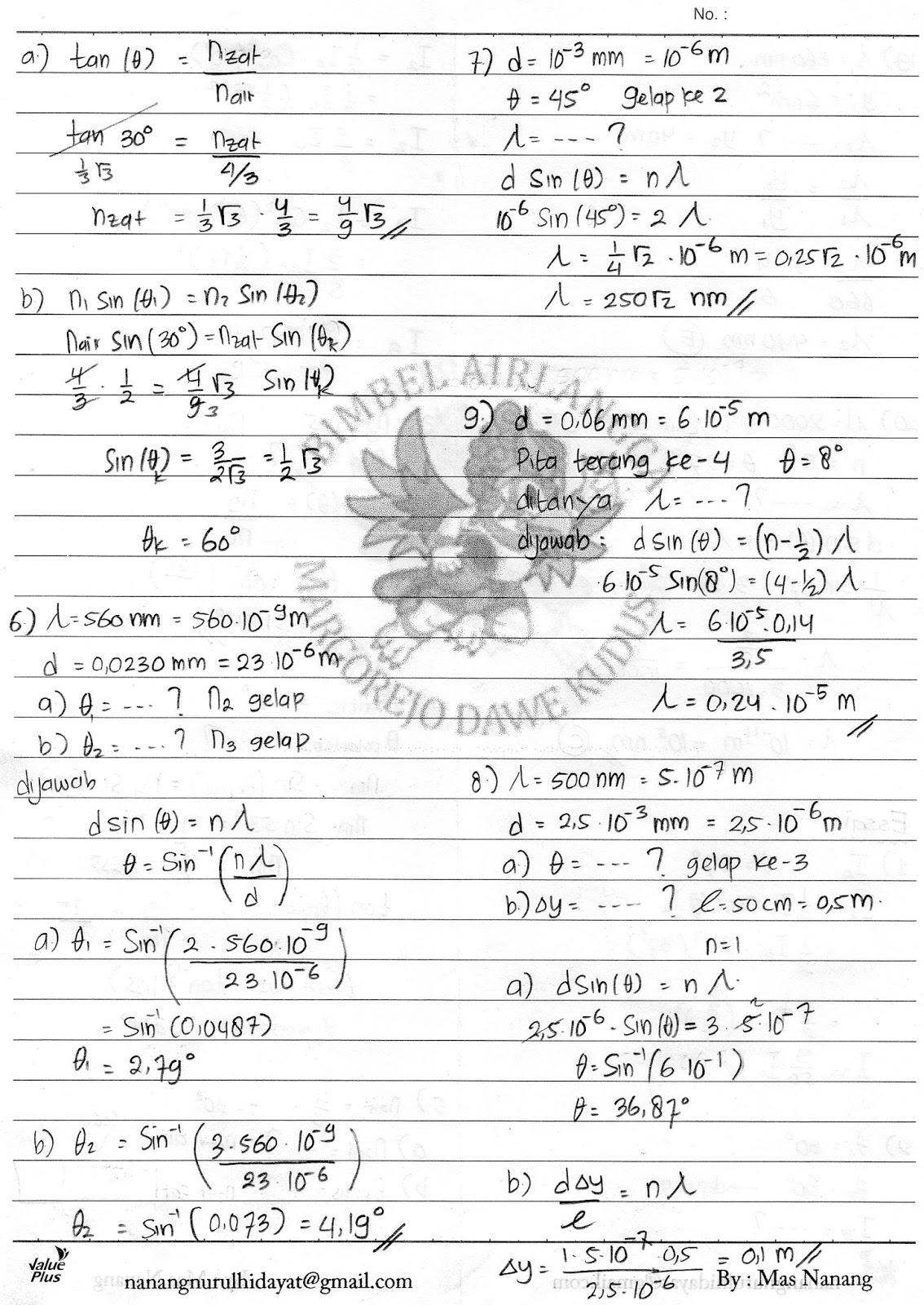 Kunci jawaban Buku Fisika sagufindo kinarya Kelas xiiso