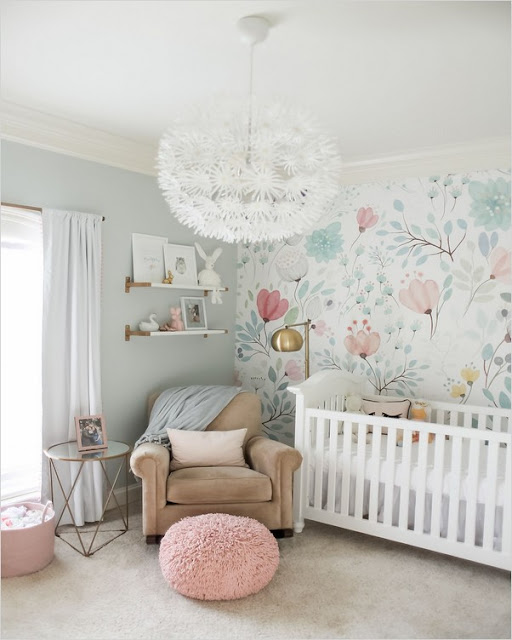 baby girl nursery wallpaper patterns