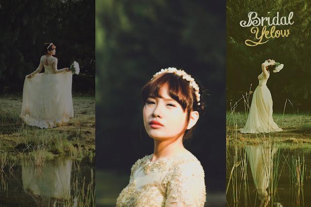 Váy cô dâu màu vàng trong rừng thông | Princess Style
