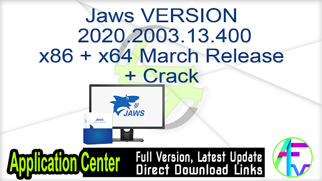 Jaws VERSION 2020.2003.13.400_x86+x64 March Release + Crack