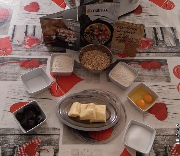 Ingrédients recette Markal cookies aux flocons d'avoine et chocolat noir