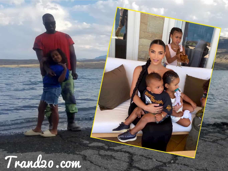 كيم كارداشيان تعود مع أولادها إلى لوس أنجلوس من دون زوجها