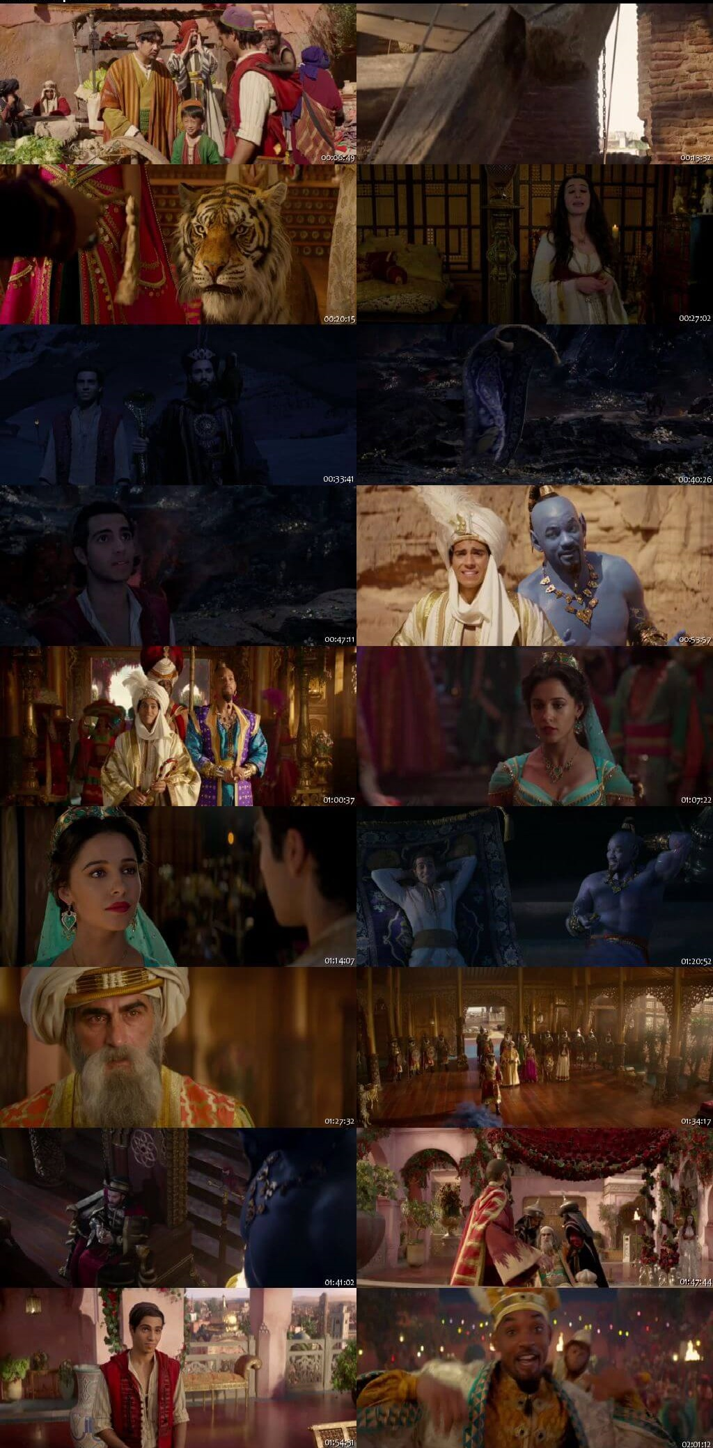 Screen Shot Of Aladdin 2019 300MB Full Movie Hindi Dubbed Free Download 720P BRRip HEVC