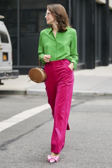Модные образы яркой одежды 7