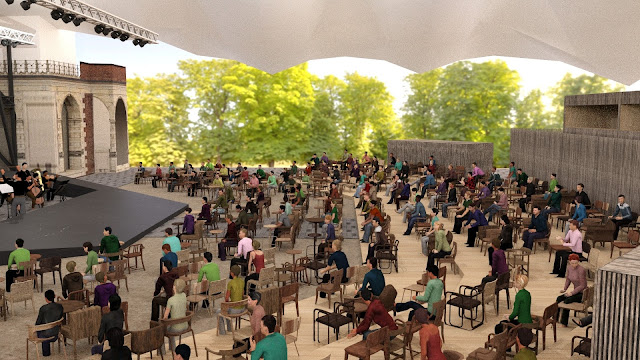 Artists impression of the re-configured theatre at Opera Holland Park