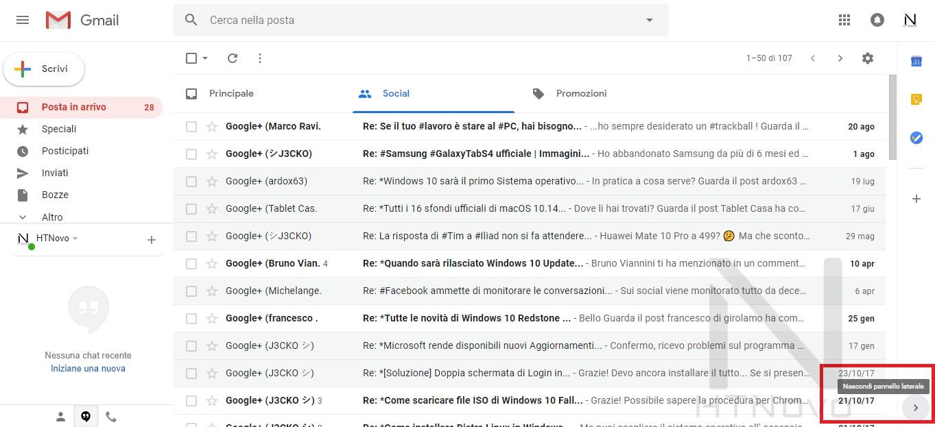 Nascondere-barra-laterale-nuova-gmail