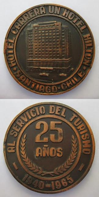Medalla Edificio Hotel Carrera 25 años