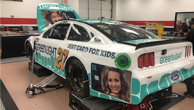 Greenlight Debit Card for Kids On Board the #27 of J.J. Yeley #NASCAR