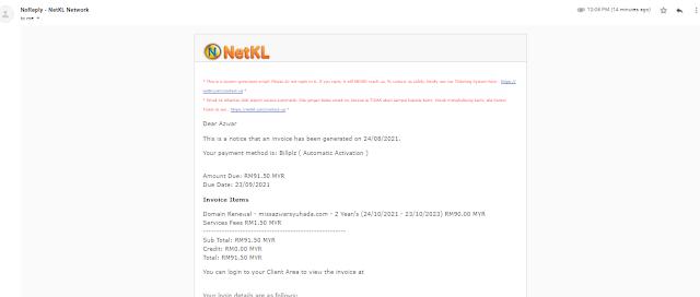 Cara Mudah Renew Domain Menerusi NetKL