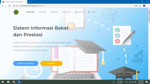 Alamat Web Aplikasi Sistem Informasi Bakat dan Prestasi ( BANPRES )