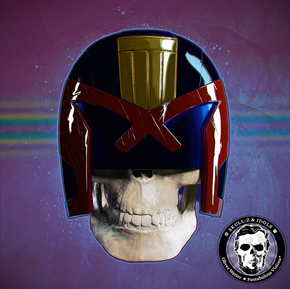 Skullportrait of Judge Dredd