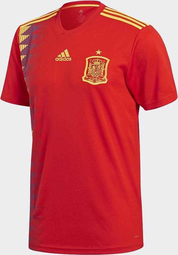 Adidas divulga a camisa titular da Espanha para a Copa do Mundo ... 54684bc242279