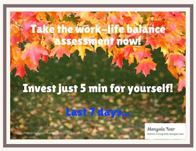 Work life balance assessment