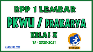 RPP 1 Lembar Prakarya Kelas X Revisi Tahun 2020