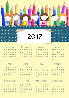2017カレンダー無料テンプレート47