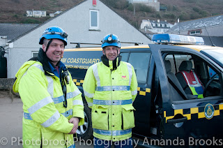 Local coastguards on hand to protect people from danger at the coast