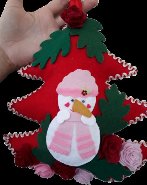 Enfeite de Porta em Formato de Árvore de Natal