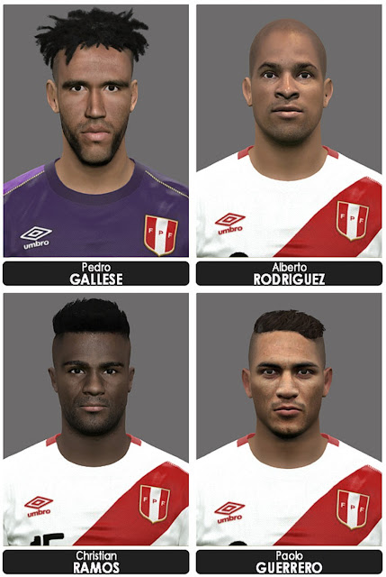 PES 2017 Peru Facepack by Marcelo Facemaker