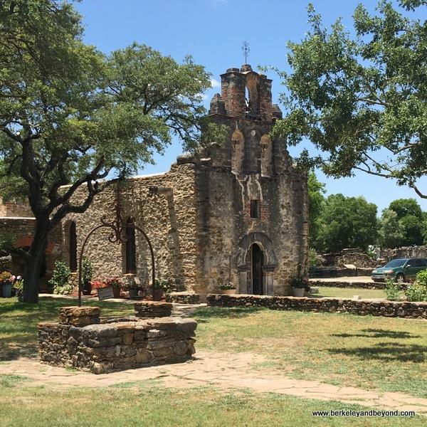 exterior of church at Mission Espada in San Antonio Missions National Historical Park in San Antonio, Texas