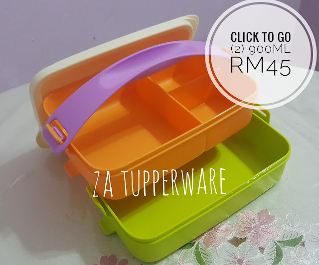 Tupperware  Click To Go (2) 900ml