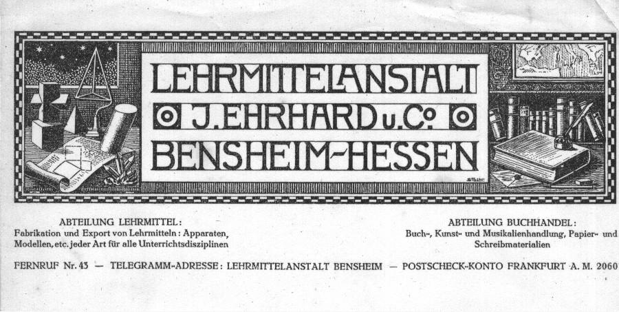 Joseph Stoll Bensheim Briefköpfe