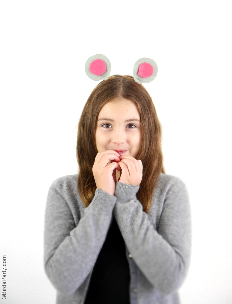 DIY Animal Ears Headbands for Halloween | BirdsParty.com