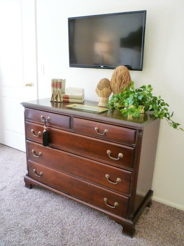 Hanging The Tv Over Bedroom Dresser A Stroll Thru Life