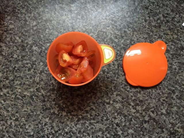 orange baby pot with lid