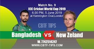 World Cup 2019 Match Prediction Tips by Experts Ban vs Nzl