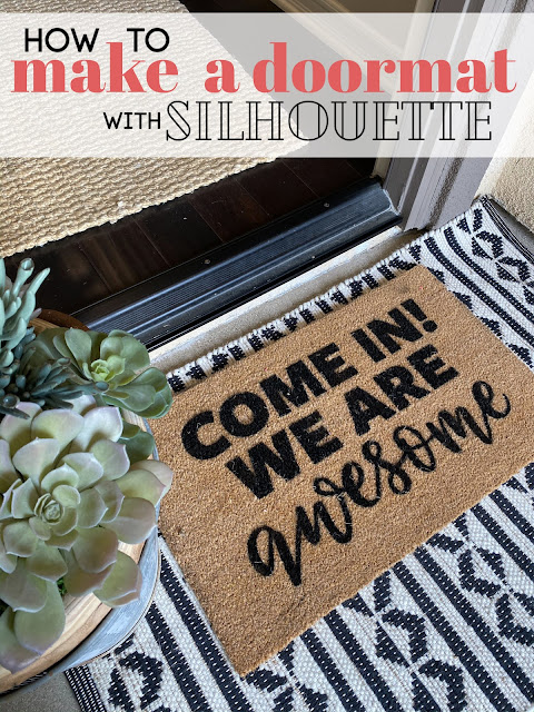 "silhouette 101, silhouette america blog, silhouette doormat tutorial, blank doormat, 15"" silhouette cameo 4 Plus"