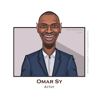 omar sy cartoon caricature