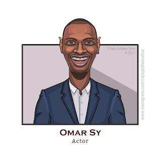 omar sy cartoon caricature