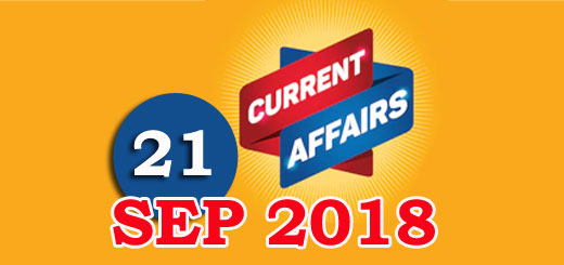 Kerala PSC Daily Malayalam Current Affairs 21 Sep 2018