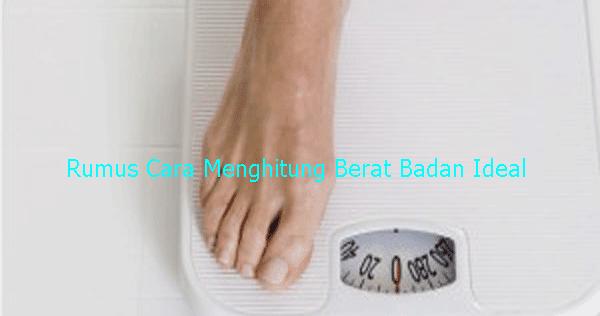 Mengetahui berat badan yg ideal?