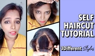 During Lockdown :How to do feather cut & front bangs easily at home!